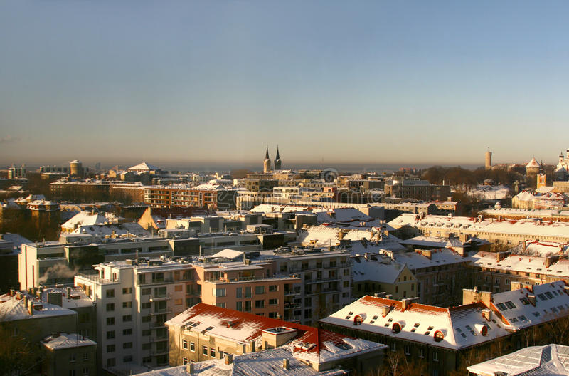 Tallinn moderna, Estonia fotografie stock