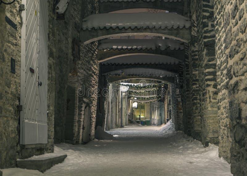 Tallinn no inverno foto de stock royalty free