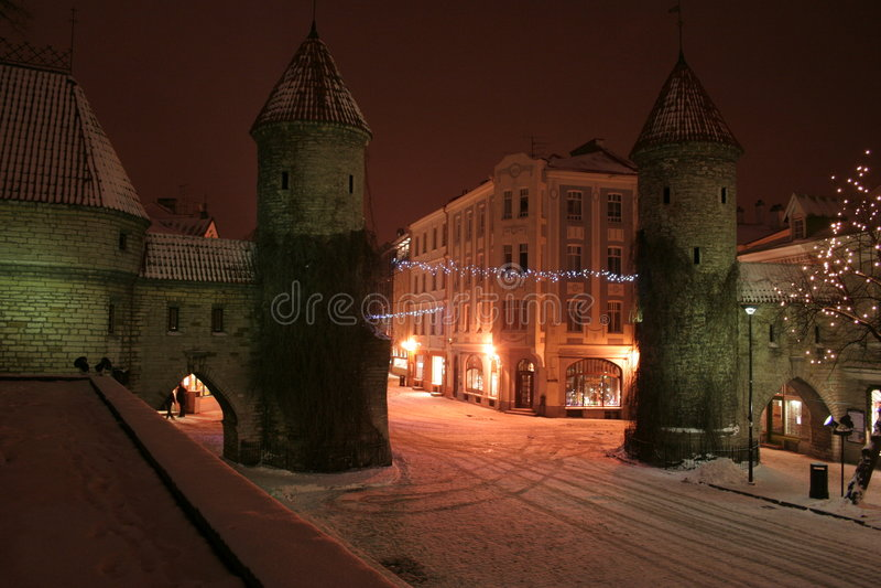 Tallinn noc zdjęcie stock