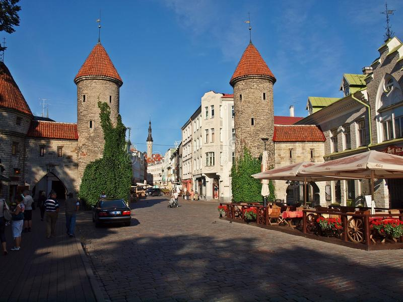 Tallinn old city gates royalty free stock photo