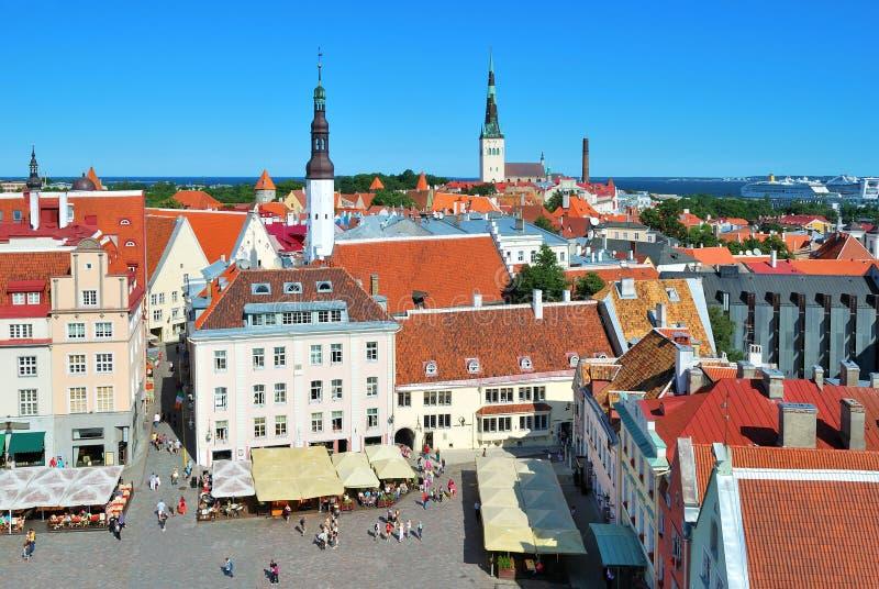 Tallinn, quadrato del municipio fotografia stock