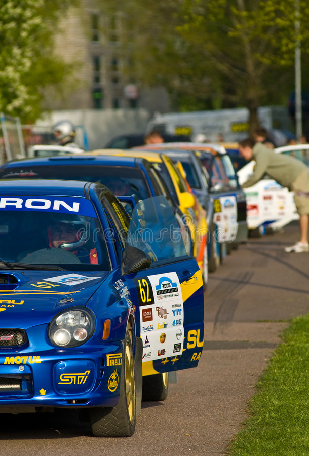 Tallinn Rally 2008 stock photography