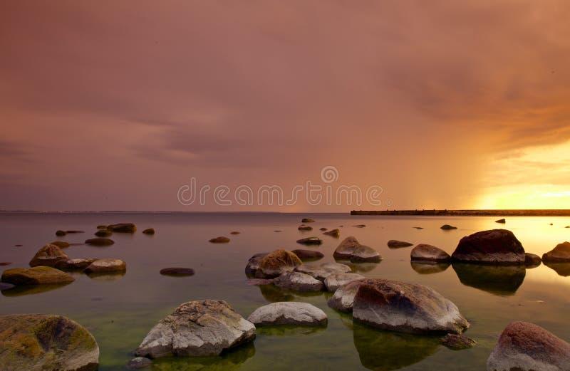 Tallinn sea shore stock photography