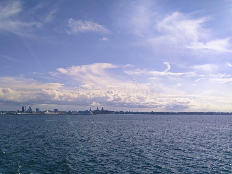 Tallinn skyline royalty free stock images