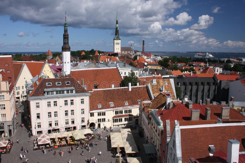 Download Tallinn square editorial stock photo. Image of culture - 20704838