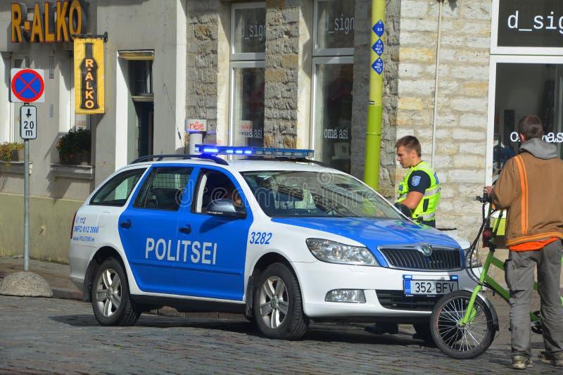 Tallinn-Stadt Municipal-Polizei lizenzfreies stockfoto