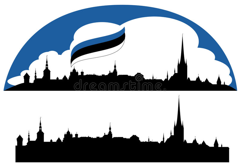 Download Tallinn vektor vektor illustrationer. Illustration av europeiskt - 27285954