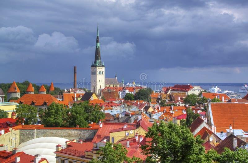 Tallinn vieja, Estonia fotos de archivo