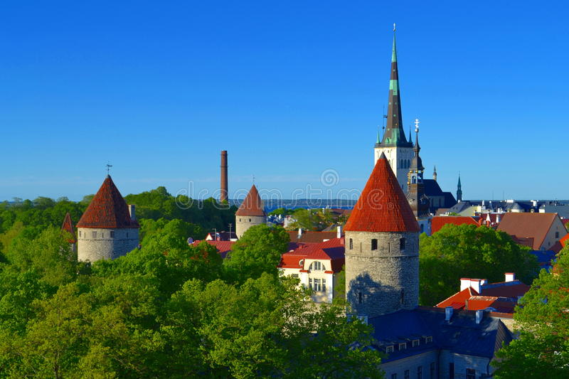 Tallinn view old town. Estonia royalty free stock images