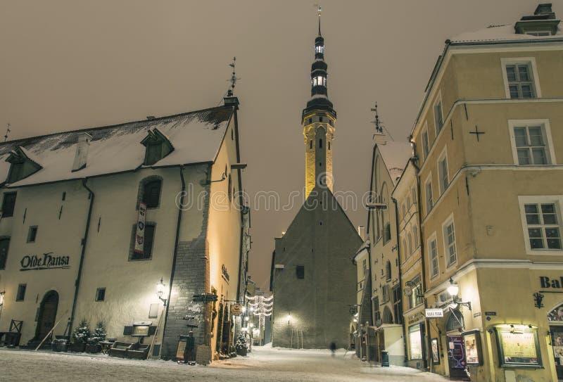 Tallinn in winter royalty free stock photo