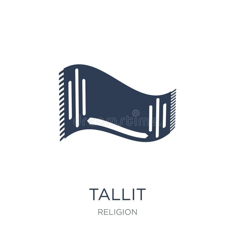 Tallit icon. Trendy flat vector Tallit icon on white background royalty free illustration