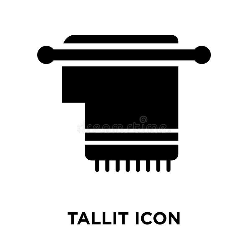 Tallit-Ikonenvektor lokalisiert auf weißem Hintergrund, Logokonzept von lizenzfreie abbildung