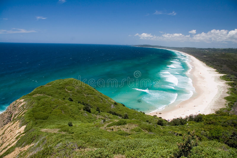 Tallow Beach Byron Bay. Tallow Beach, Byron Bay, northern New South Wales (NSW), Australia stock images
