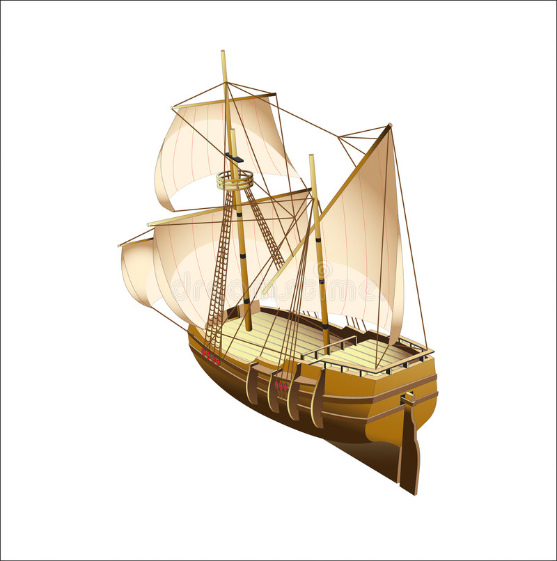 tallship royaltyfri illustrationer