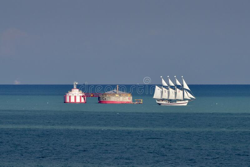 Tallship Windy Passing The Watercrib stock image