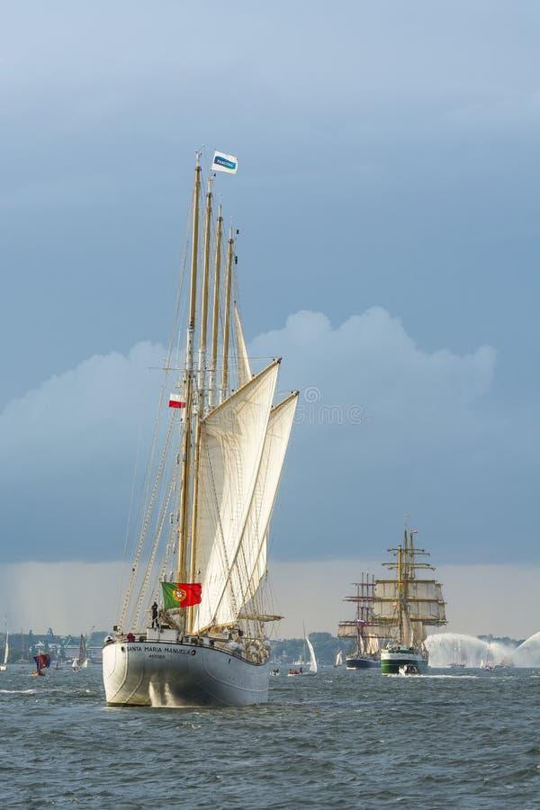 Tallships fora de Gdynia imagens de stock