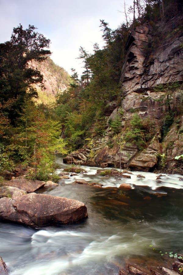 Tallulah River tomada de Tallulah Gorge situada perto de Clayton Georgia fotografia de stock royalty free