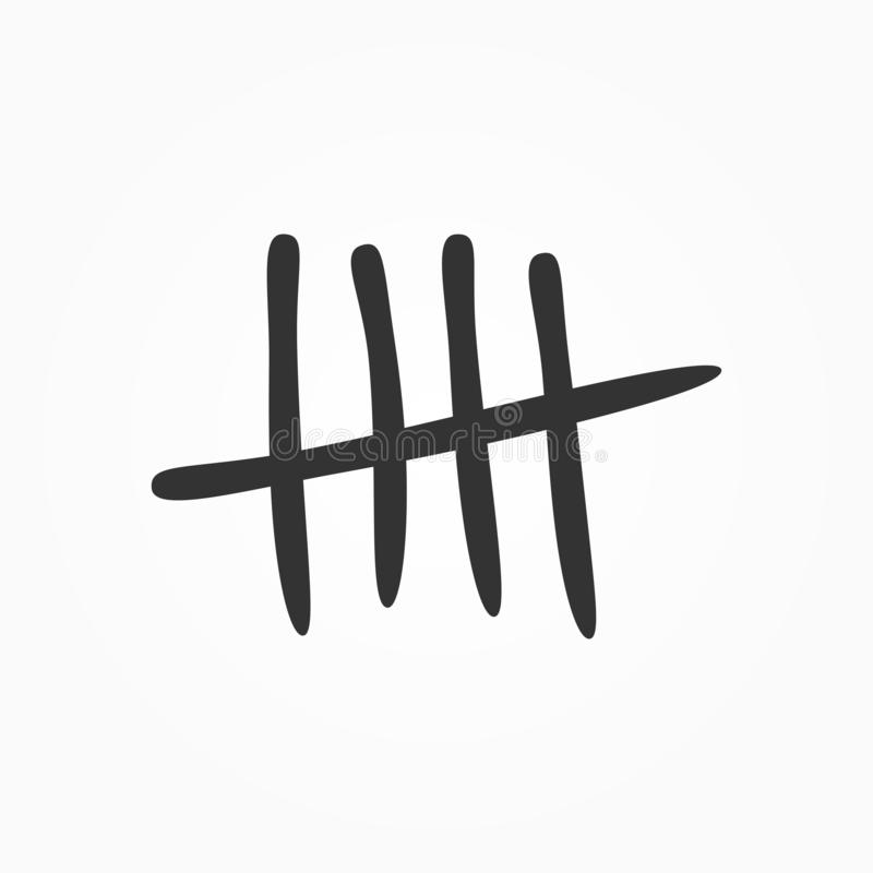 Free Tally Marks Drawn By Hand. Isolated Sketch Icon, Sign, Symbol. Stock Image - 126959231