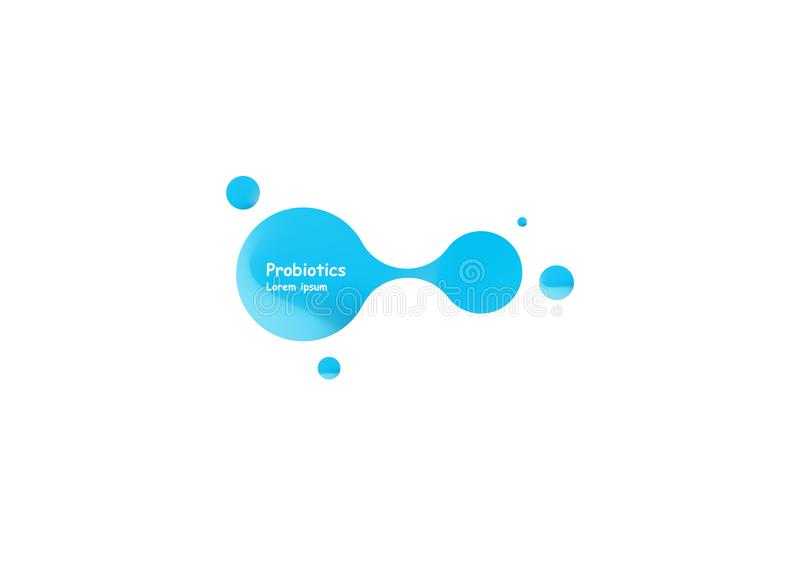Probiotics bacteria vector design. Concept of design with Lactobacillus Probiotic Bacteria. Template design with royalty free illustration