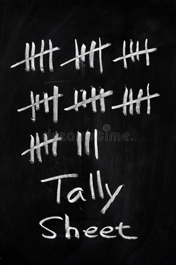 Free Tally Sheet Used For Counting Stock Photo - 22486820