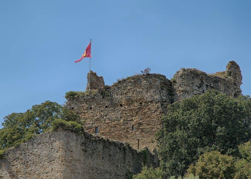 Talmont Saint Hilaire, Chateau ruins, Vendee, France stock photos