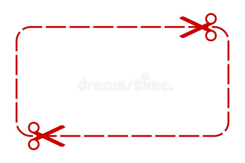 Talon granica - akcyjny wektor ilustracji