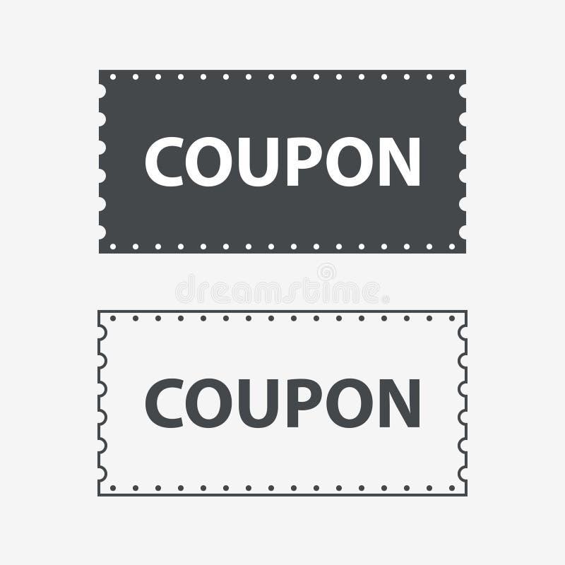 Talonowe ikony Dyskontowa talonów biletów karta Talon dla sieć projekta ilustracja wektor