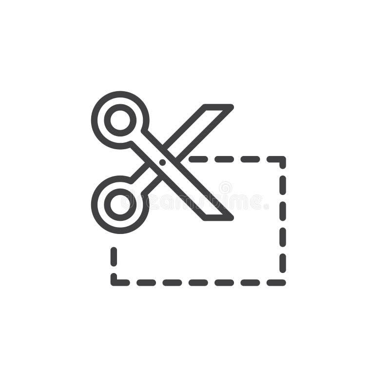 Talonowego cięcia linii ikona ilustracja wektor