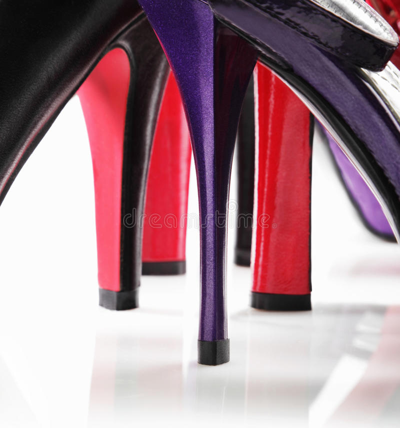 Talons des chaussures photo stock