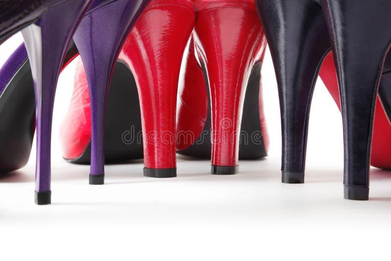 Talons des chaussures photographie stock libre de droits