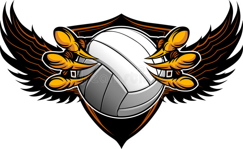 Talons e garras do voleibol da águia ilustração do vetor