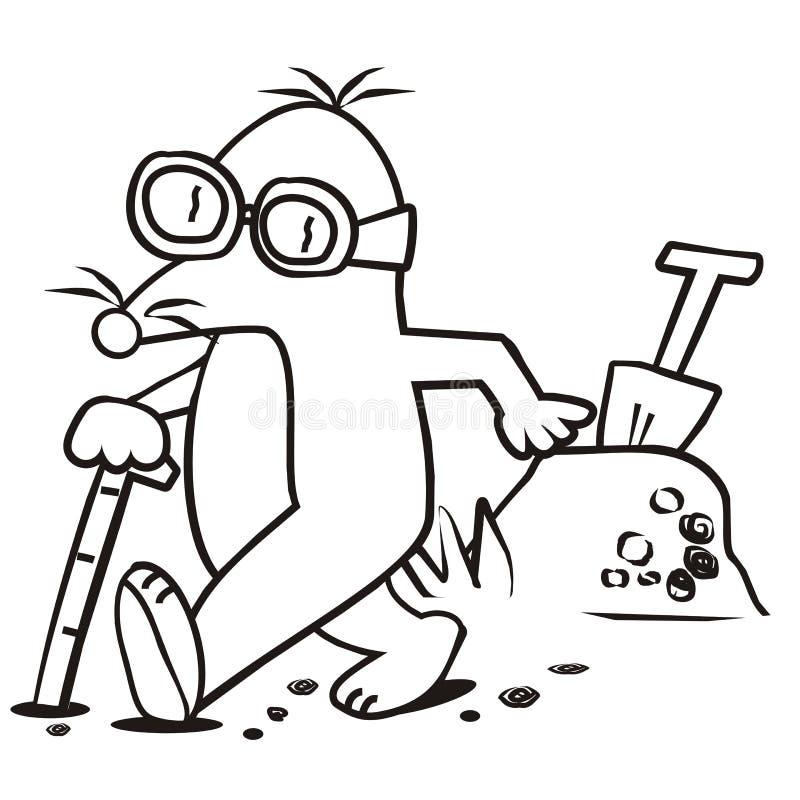 Talpa e bastone per il libro di cieco coloritura for Talpa mammifero