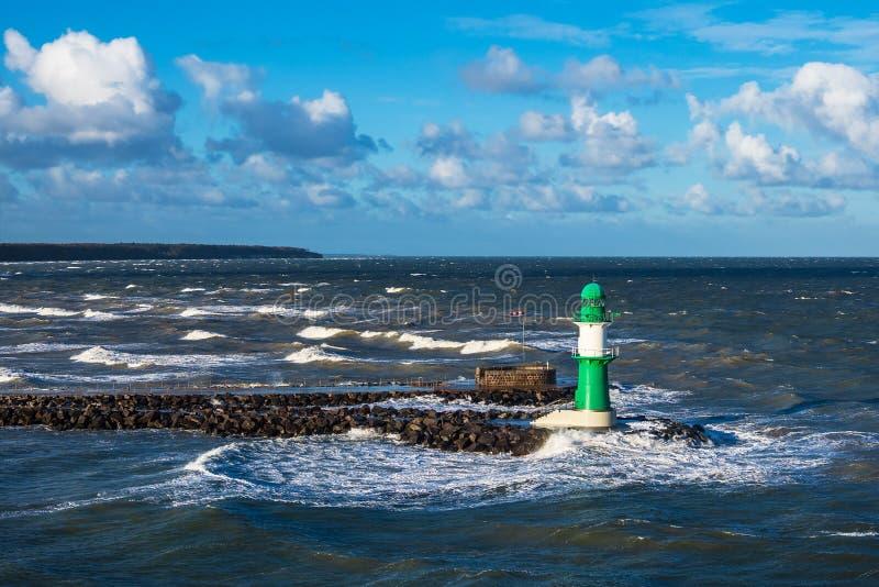 Talpa sulla costa del Mar Baltico in Warnemuende, Germania immagine stock libera da diritti