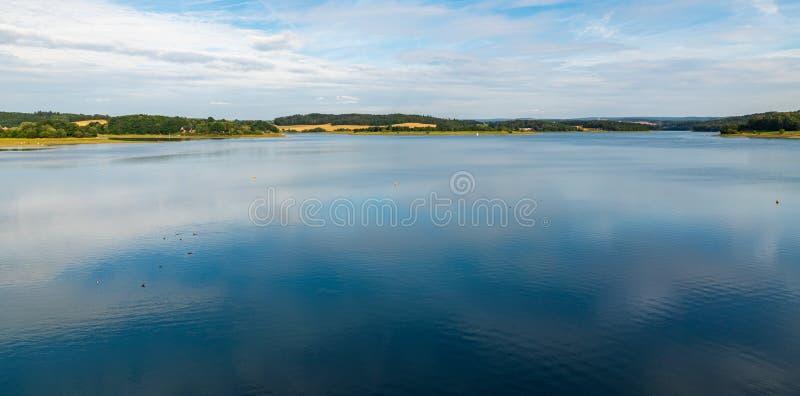 Talsperre Pohl water reservoir near Plauen city in Germany. Talsperre Pohl water reservoir with rural landscape around near Plauen town in Germany stock photos