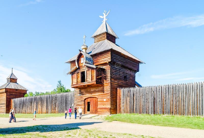 Taltsy是一个建筑和民族志学博物馆 免版税库存照片