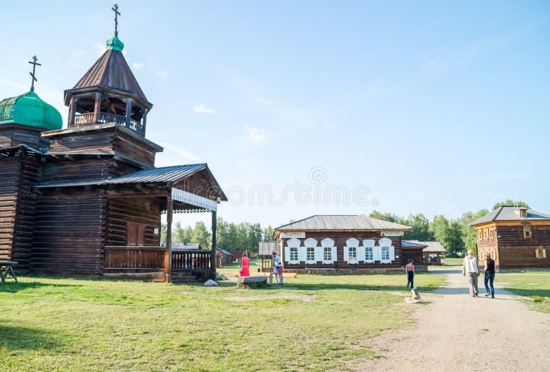 Taltsy是一个建筑和民族志学博物馆 免版税库存图片