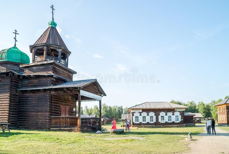 Taltsy is an architectural and ethnographic museum royalty free stock photo