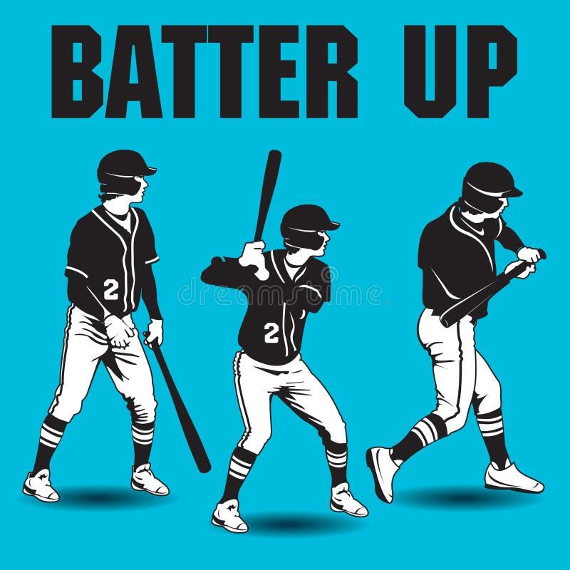 Talud encima de ilustraciones del béisbol stock de ilustración