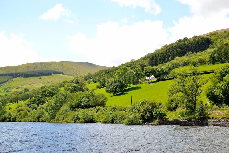 talybont-op vallei en reservoir royalty-vrije stock fotografie