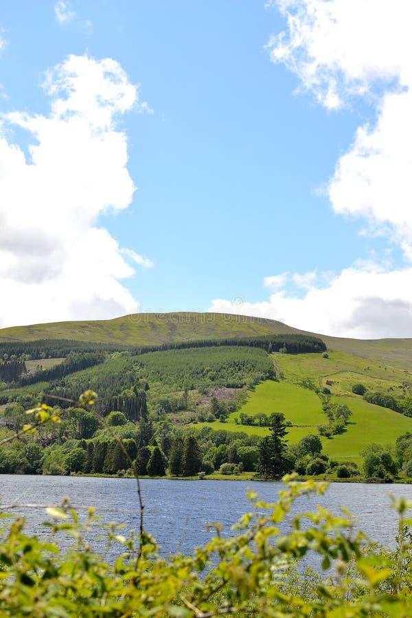 talybont-op vallei en reservoir royalty-vrije stock afbeelding
