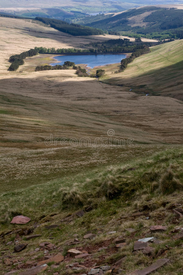 Free Talybont Reservoir In Brecon Beacons National Park Royalty Free Stock Photos - 9541658
