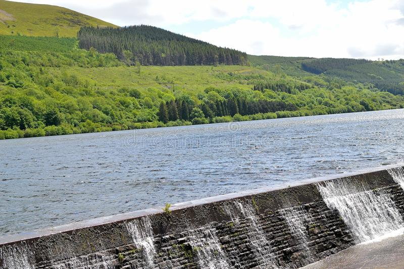 Talybont-sur-usk le réservoir d'eau photos stock