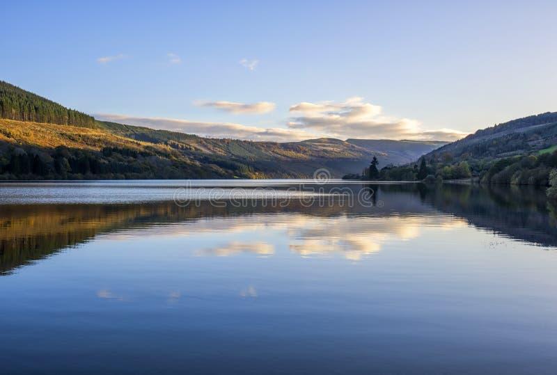 Talybontreservoir in Wales stock afbeeldingen