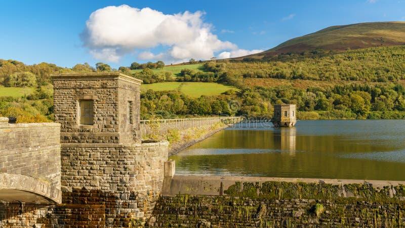 Talybontreservoir, Wales, het UK stock afbeeldingen