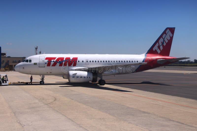 TAM Airlines imagens de stock royalty free