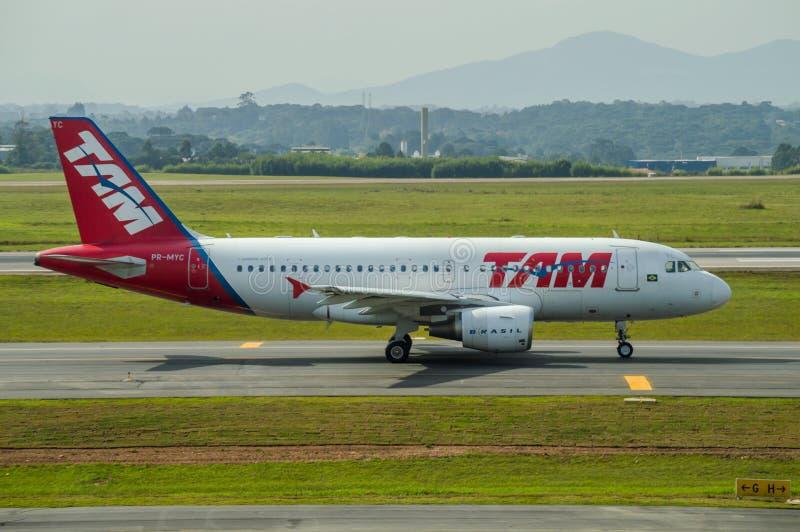 TAM Airlines Plane imagens de stock