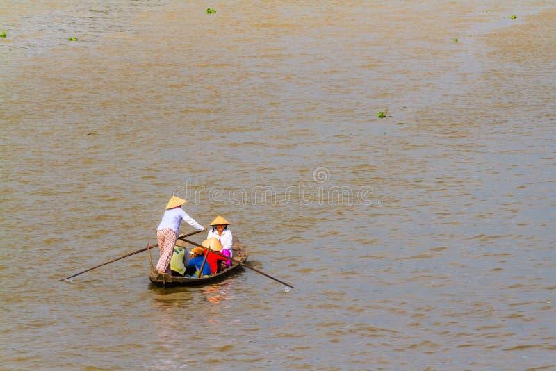 Tam Bản, Sampan, μικρή βάρκα στο ποταμό Μεκόνγκ, Βιετνάμ στοκ φωτογραφίες με δικαίωμα ελεύθερης χρήσης