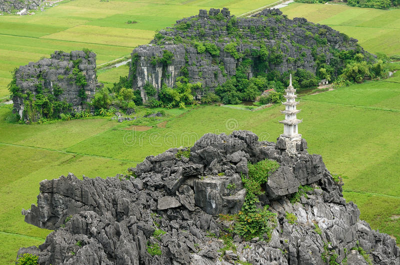Tam Coc - B�ch is a popular tourist destination near the city of Ninh Binh in northern Vietnam. royalty free stock photo