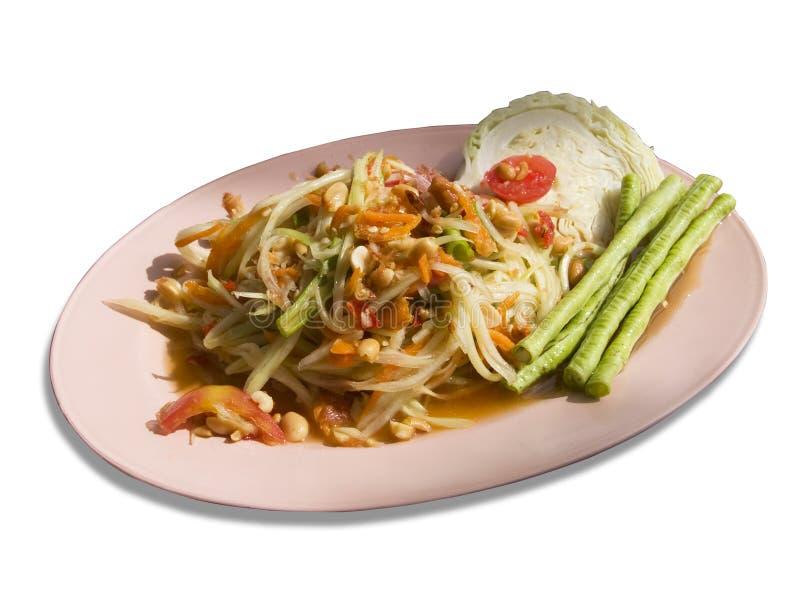 Tam de som, salade de papaye photographie stock libre de droits