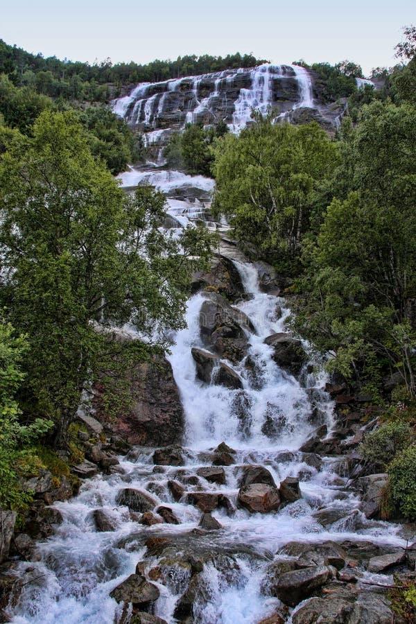 Tam są setki piękne siklawy w Scandinavia obraz stock